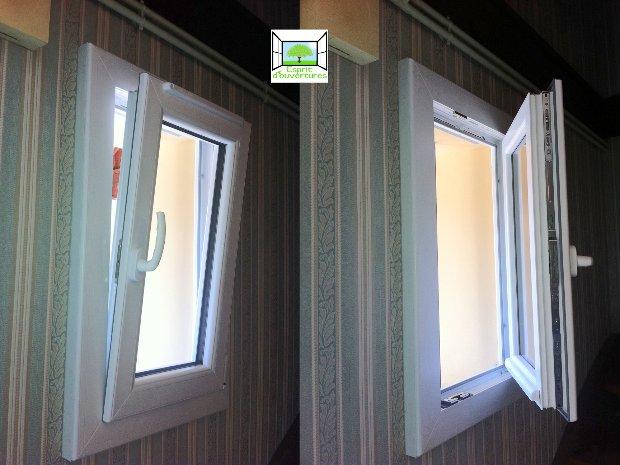 Esprit d'ouvertures Blandy 77 Fenêtre PVC blanc OB oscillo-battant design rénovation sécustik devis prix
