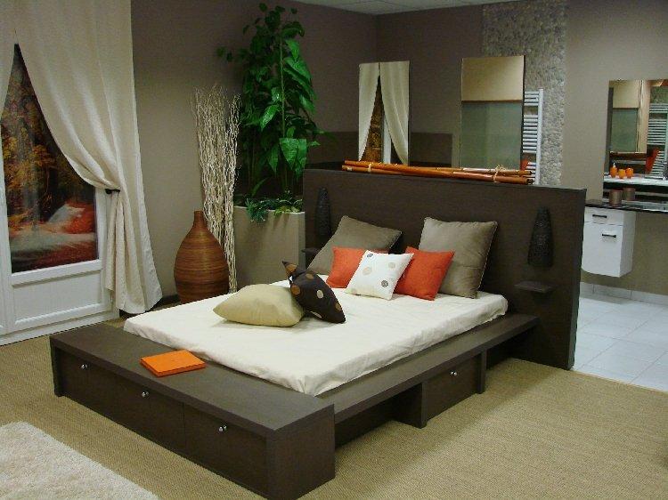 espace rangement prtea tete de lit