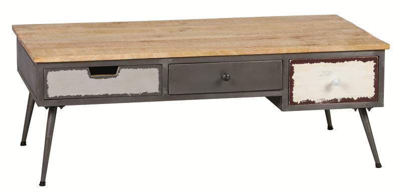 table basse ref 3415 3 tiroirs