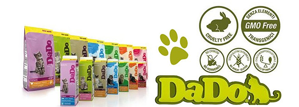 Gamme aliments Dado (chiens chats ) et Optima