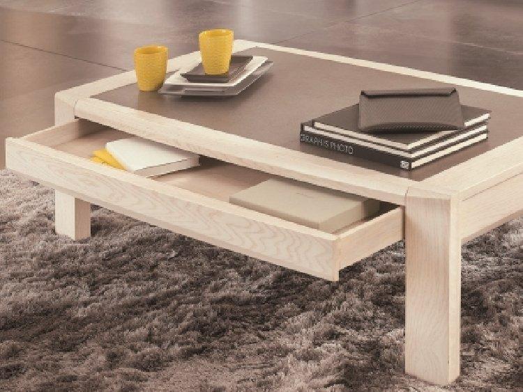 table basse avec tiroir