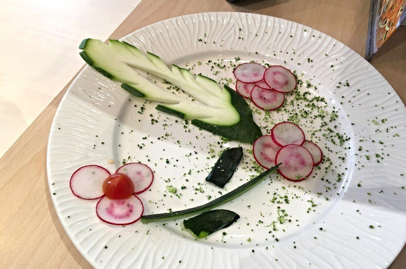 Démo taille de légumes chez PRO GOURMET