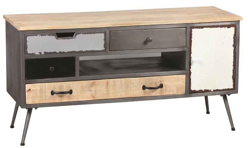 Meuble TV ref 3413 4 tiroirs 1 niche 1 porte