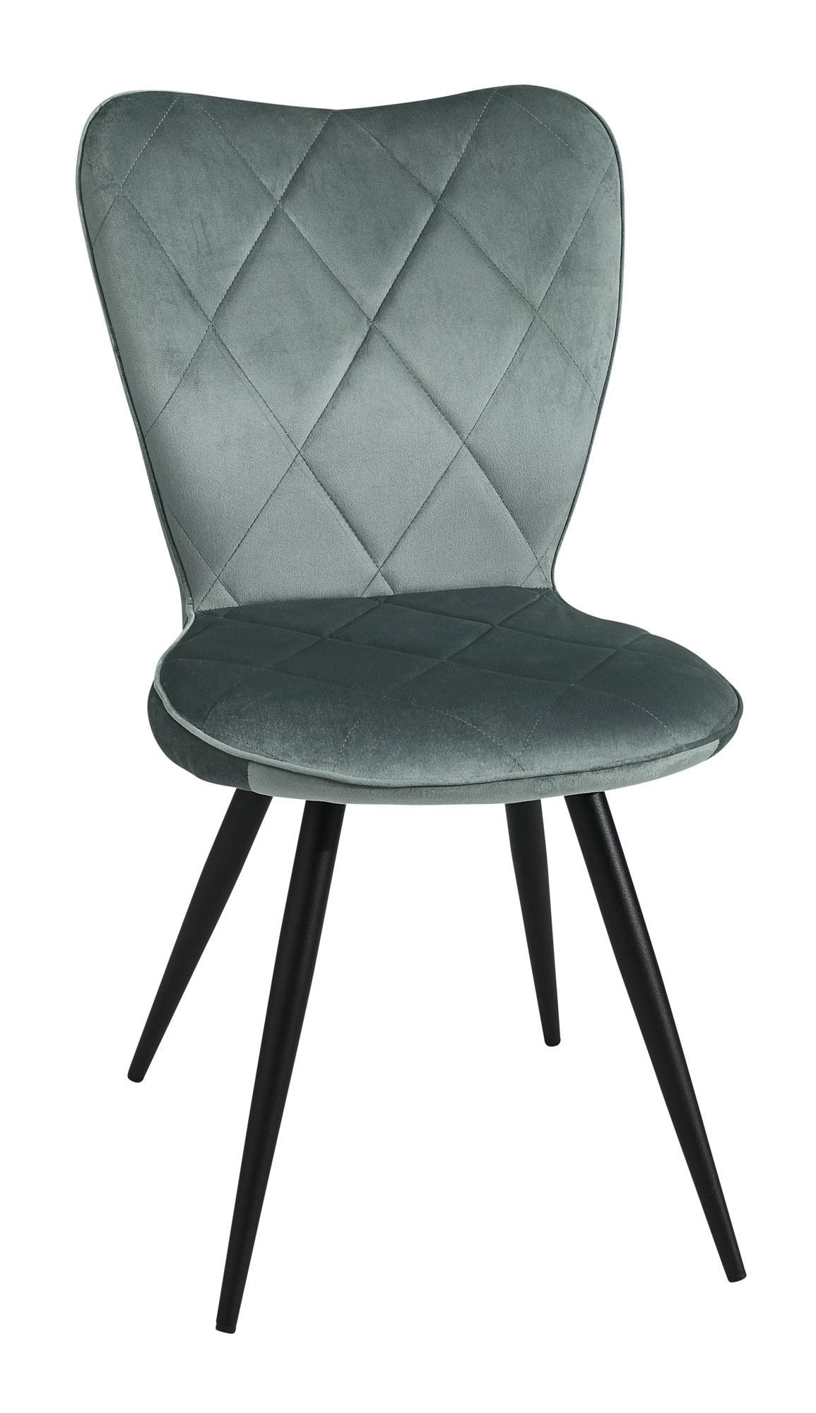 chaise velour pied métal séraphine