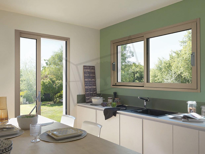 Fenetre fenêtres mixte bois alu cuisine galandage
