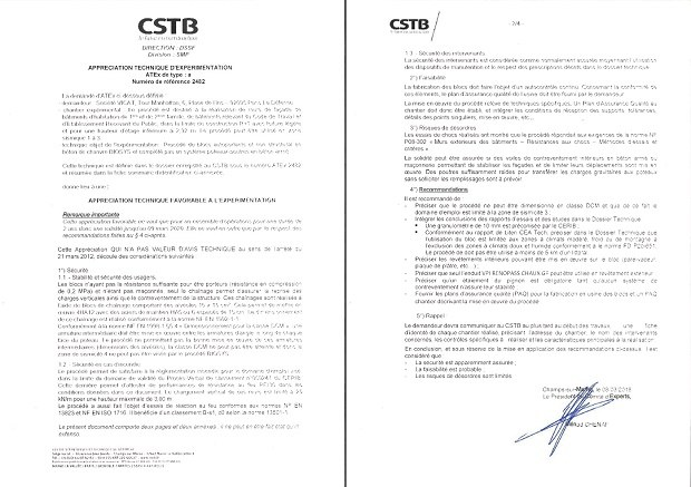 Certification CSTB