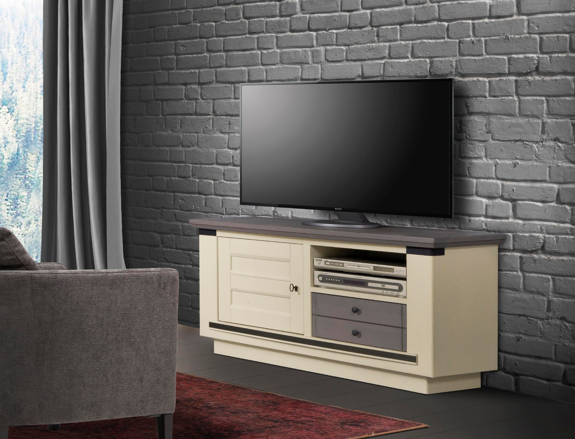 Magellan Meuble Tv 1 Porte 1 Tiroir 1 Niche Fabricants Reunis