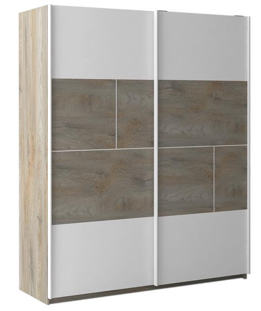 armoire Chambre a couché laqué blanc- bois- moderne- prado