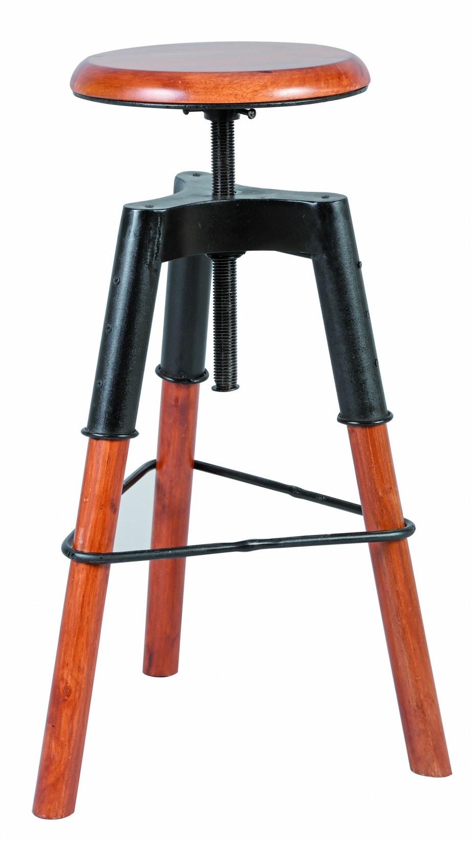 tabouret a vis ref 1892 assise bois structure en acier