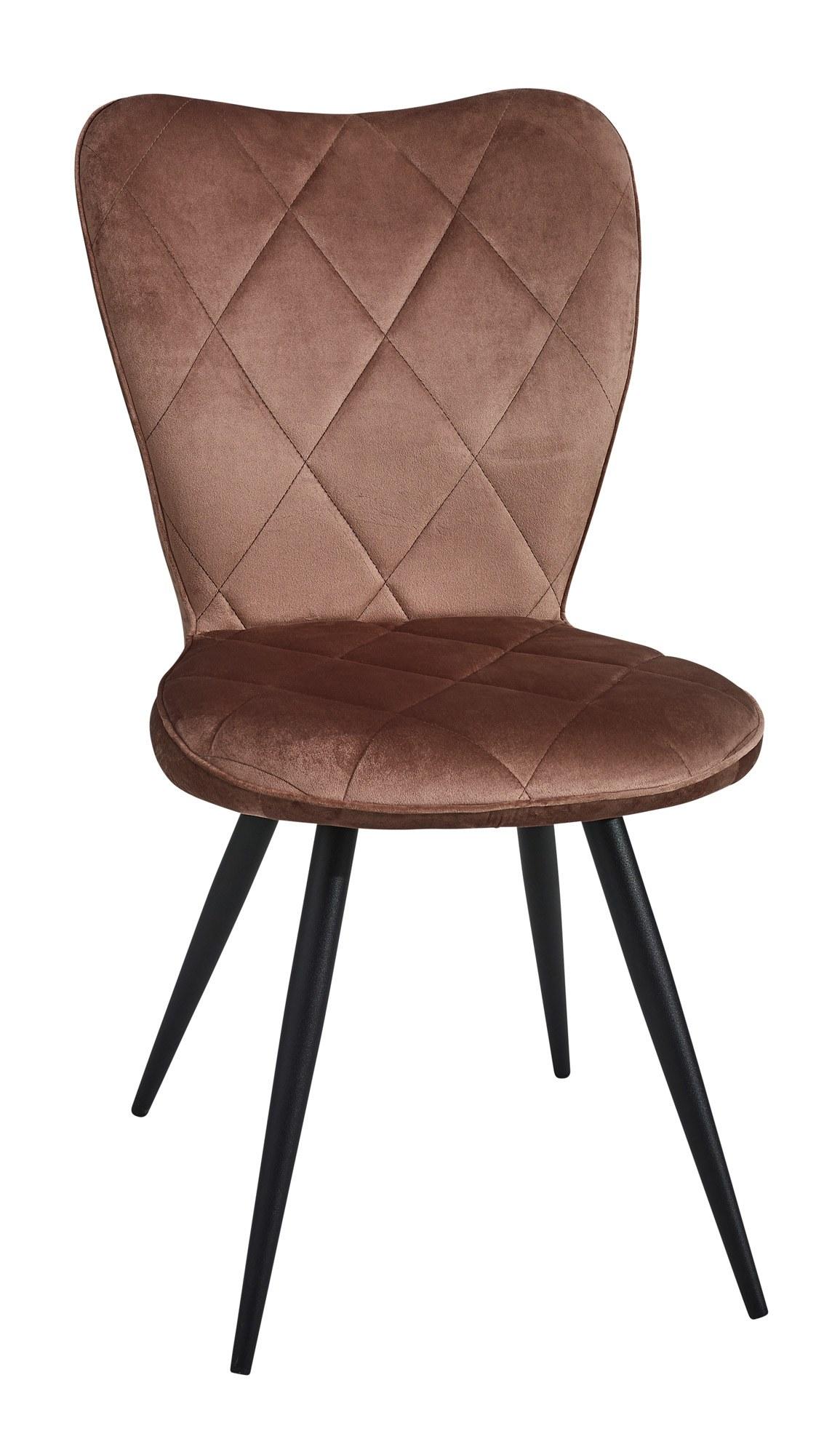 chaise velour séraphine pied métal