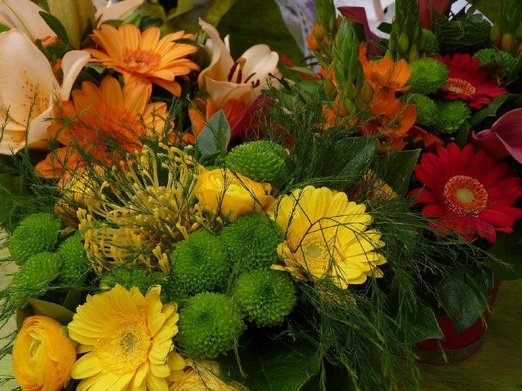 fleurs coupées - bouquets