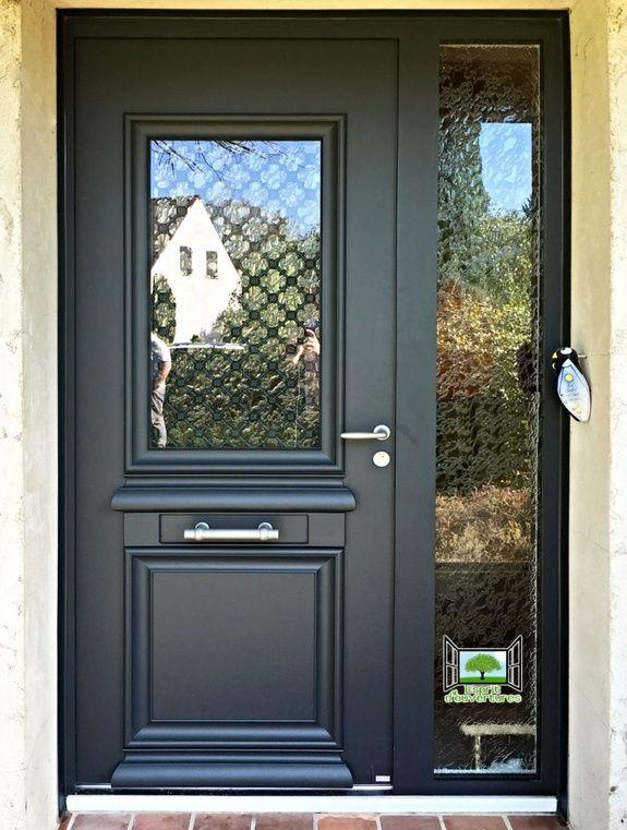 Porte d 39 entr e aluminium esprit d 39 ouvertures brunoy 91 for Porte de garage alinea bel m
