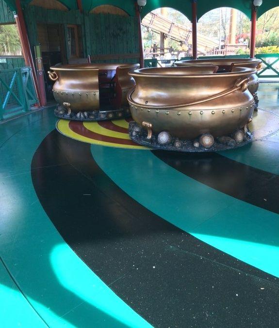 peinture de sol parc Astérix
