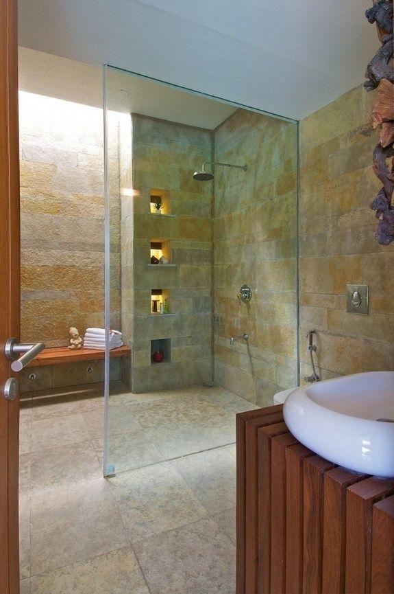 construction de douche italienne