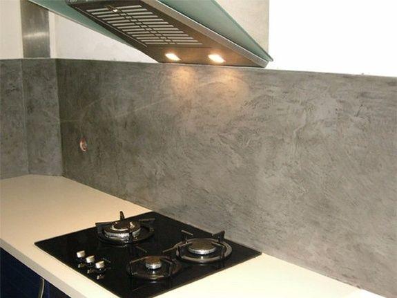 cuisine credence effet beton magasin aubagne ambiance pierre carrelage