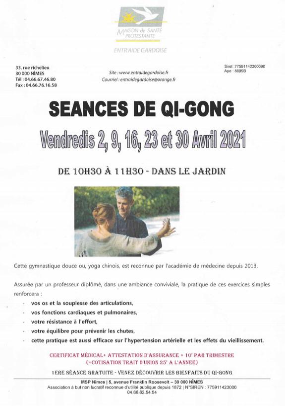 Qi-qong - Entr'Aide Gardoise - Nîmes