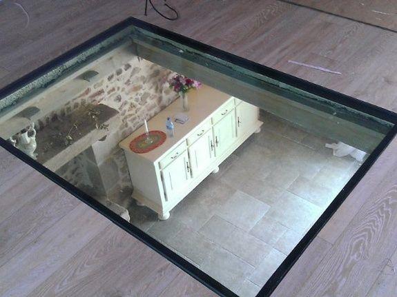Pose de plancher en verre