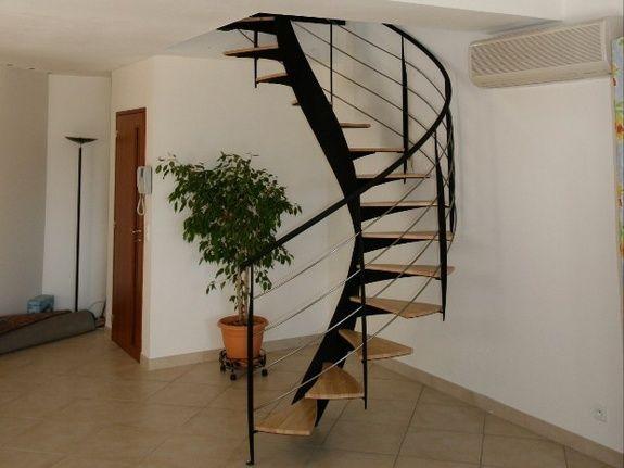 Escaliers fer et bois