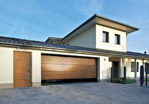 Porte garage winshester rainures L avec portillon indépendant