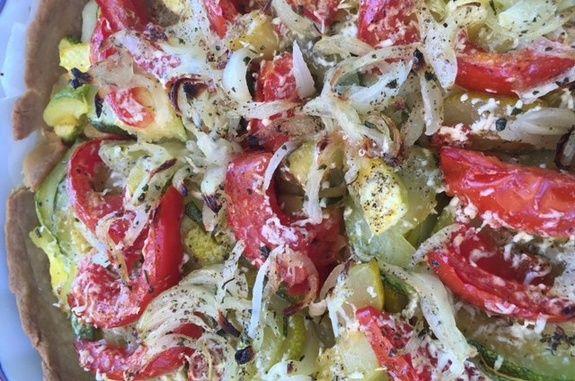 Tarte aux tomates et cougettes