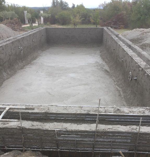 construction de piscine en béton projeté