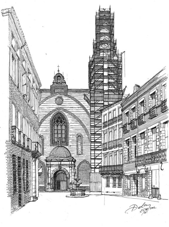 Dessin Cathédrale Saint Jean