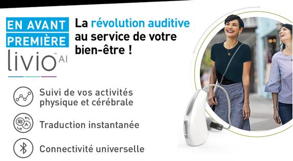 APPAREIL AUDITIFS LIVIO AI - Audition Sarah Bitblol - Saint-Maur-des-Fossés