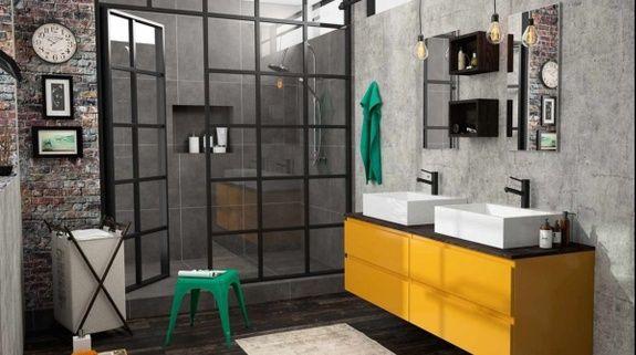 Salle de bains industrielle