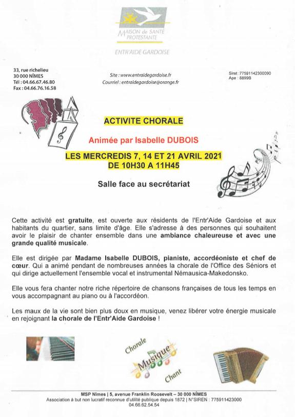 Chorale - Entr'Aide Gardoise - Nîmes