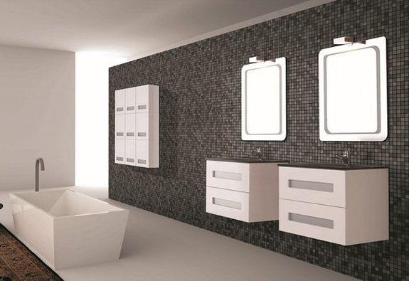 ensemble salle de bains baignoire meubles vasque miroir sanitaire magasin aubagne les paluds ambiance pierre carrelage