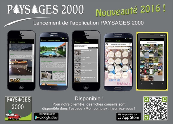 PAYSAGES 2000 - paysagiste71 -application mobile