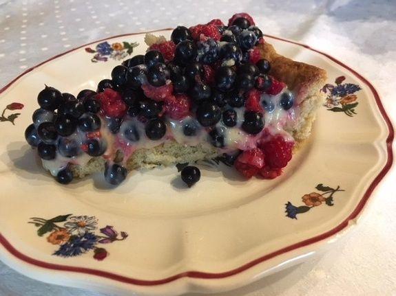 part de tarte framboises-cassis